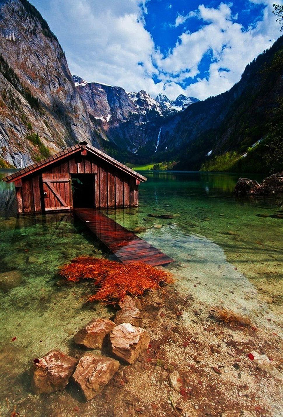 Paadimaja-Obersee-järv-Saksamaa